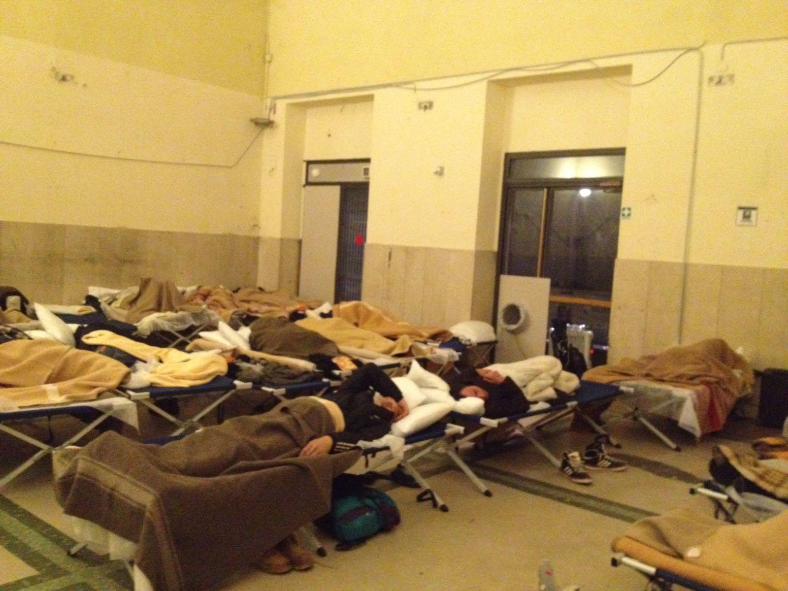intervento a favore dei senza tetto notte del 4 marzo