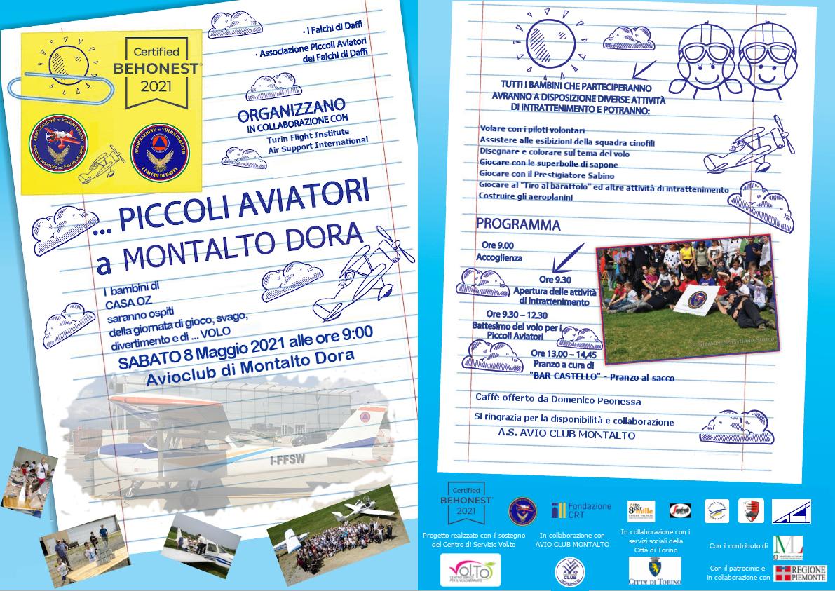 Piccoli aviatori a Montalto Dora - Locandina e programma definitivo